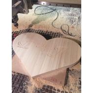 Svatební dřevěné srdce Maxi s monogramem