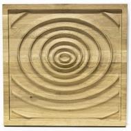 Dřevěný obraz Kapka na hladině 44 x 44 cm